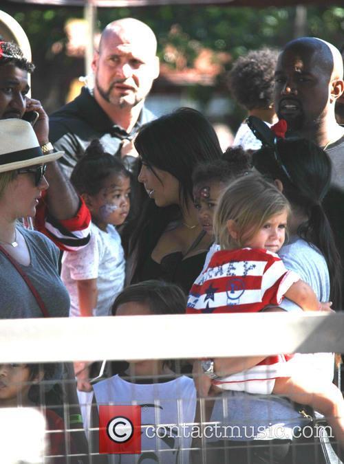 Penelope Scotland Disick, Kim Kardashian, Kanye West and North West 5