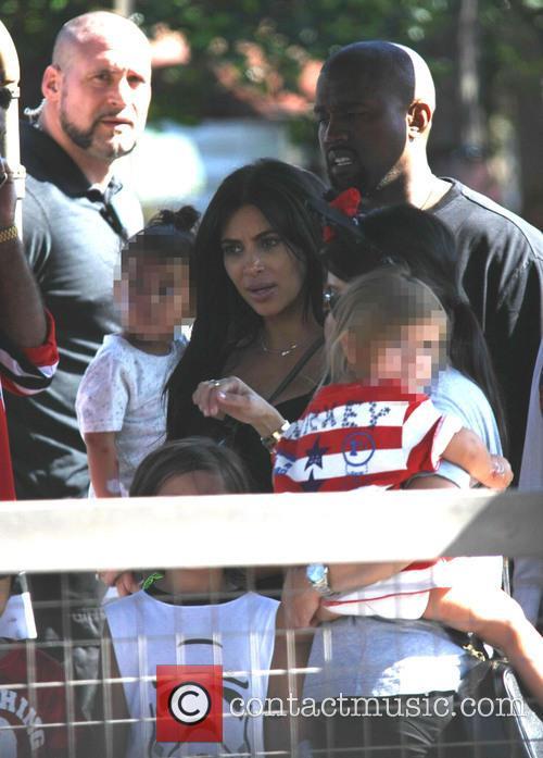 Penelope Scotland Disick, Kim Kardashian and Kanye West 1