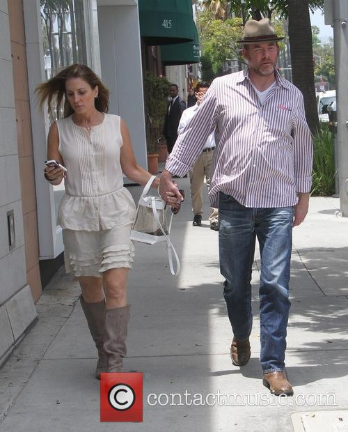 David Koechner goes shopping in Beverly Hills