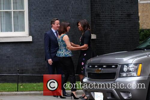 Michelle Obama, David Cameron and Samantha Cameron 8