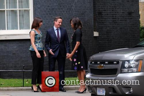 Michelle Obama, David Cameron and Samantha Cameron 9