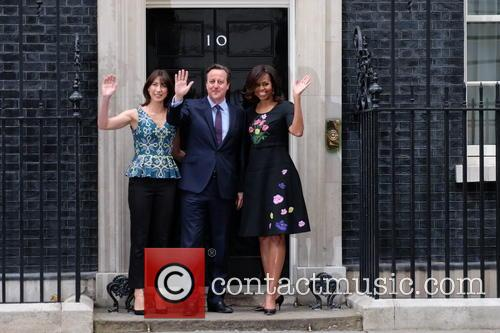 Michelle Obama, David Cameron and Samantha Cameron 11