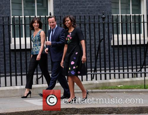 Michelle Obama, David Cameron and Samantha Cameron 1