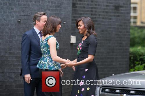 Michelle Obama, David Cameron Mp and Samantha Cameron 3