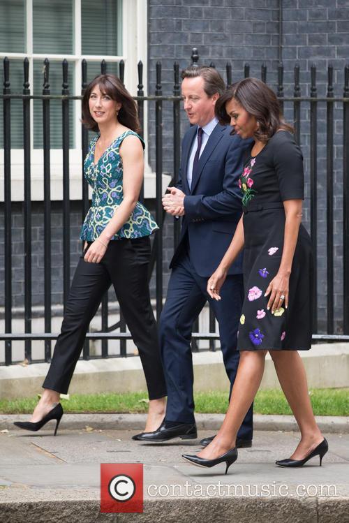Michelle Obama, David Cameron Mp and Samantha Cameron 5