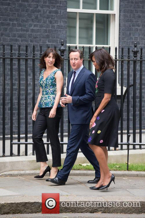 Michelle Obama, David Cameron Mp and Samantha Cameron 6