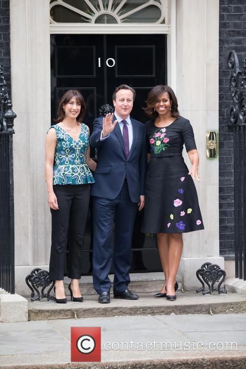 Michelle Obama, David Cameron Mp and Samantha Cameron 7