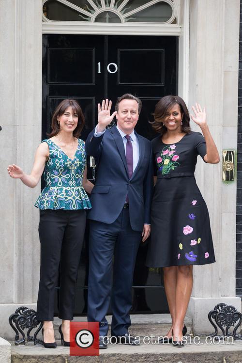 Michelle Obama, David Cameron Mp and Samantha Cameron 8