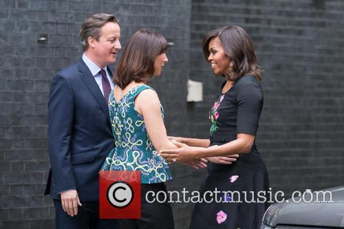 Michelle Obama, David Cameron Mp and Samantha Cameron 9