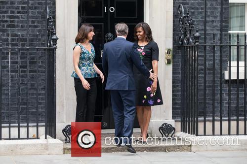 Michelle Obama, David Cameron Mp and Samantha Cameron 10