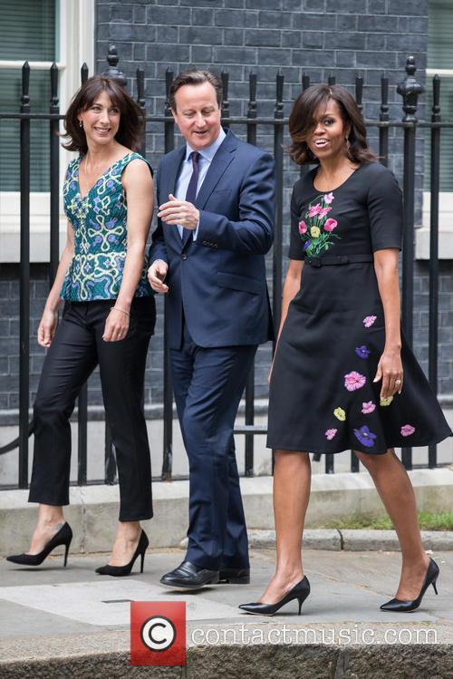 Michelle Obama, David Cameron Mp and Samantha Cameron 11