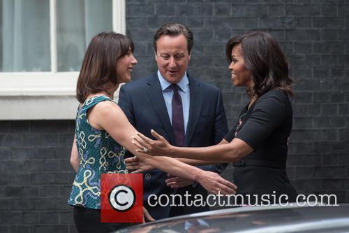 Samantha Cameron, David Cameron and Michelle Obama 3