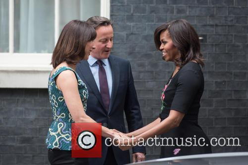Samantha Cameron, David Cameron and Michelle Obama 4