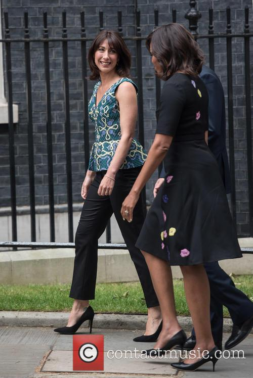 Samantha Cameron, David Cameron and Michelle Obama 5