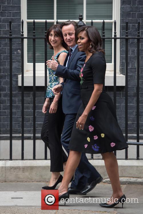 Samantha Cameron, David Cameron and Michelle Obama 6