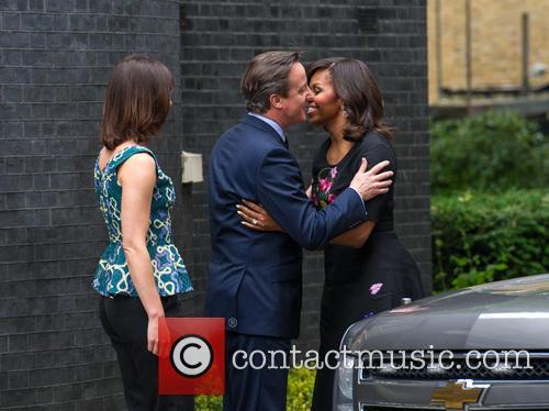 Michelle Obama, David Cameron and Samantha Cameron 2