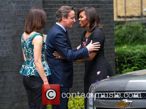 Michelle Obama, David Cameron and Samantha Cameron 4