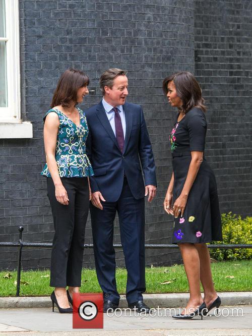 Michelle Obama, David Cameron and Samantha Cameron 6