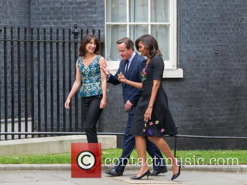 Michelle Obama, David Cameron and Samantha Cameron 1