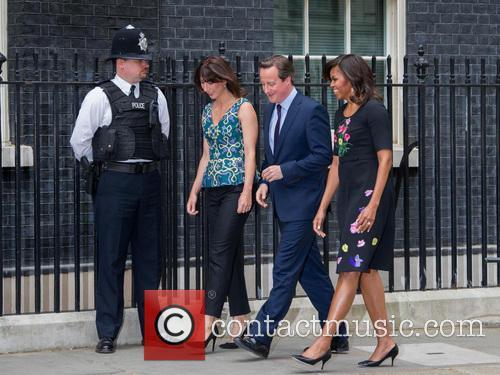 Michelle Obama, David Cameron and Samantha Cameron 7