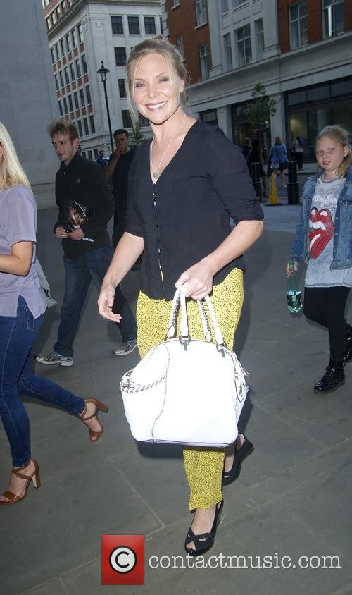 Samantha Womack arriving for 'The One Show'