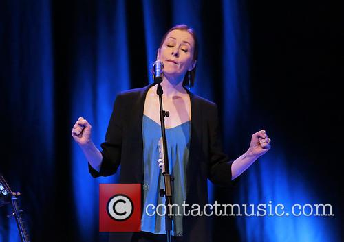 Suzanne Vega performing at Liverpool Philharmonic Hall