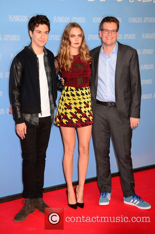 Nat Wolff, Cara Delevingne and John Green 11