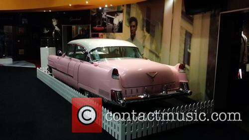 Elvis Presley's famous pink Cadillac today went on...