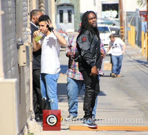 Wale arrives at the ABC studios to record...