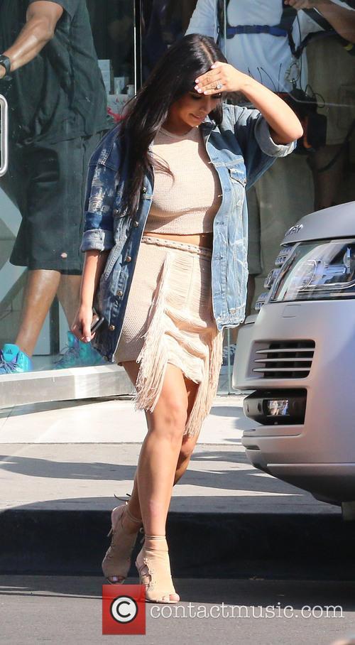 Kim Kardashian filming at Dash