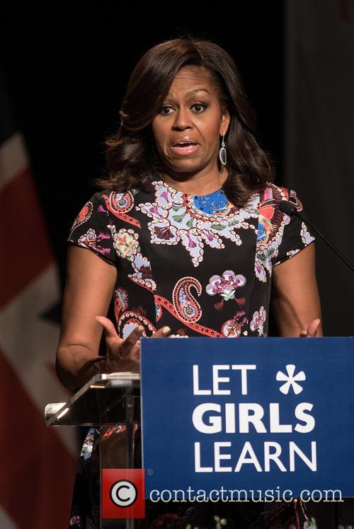 Michelle Obama visits Mulberry School