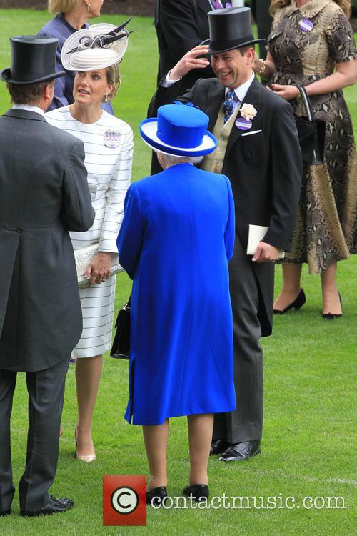 Prince Edward, Earl Of Wessex, Sophie, Countess Of Wessex and Queen Elizabeth Ii 1