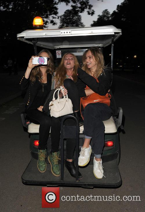 Cara Delevingne, Clara Paget and Suki Waterhouse 1
