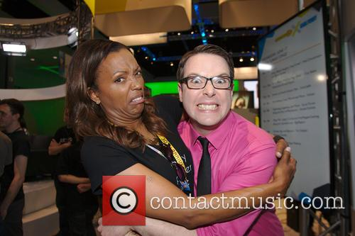 Aisha Tyler and Greg Miller 3
