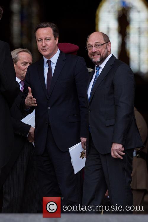 David Cameron and Martin Schulz 8