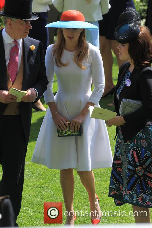Princess Beatrice, Prince Andrew and Princess Eugenie Of York 2