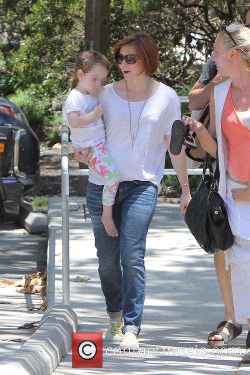 Alyson Hannigan takes her daughter Keeva Denisof to...