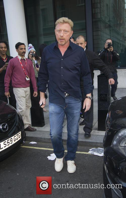 Boris Becker outside BBC Radio 1