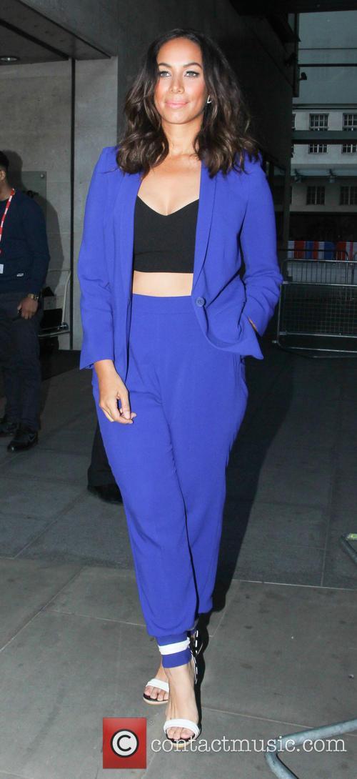 Leona Lewis outside BBC Radio 1