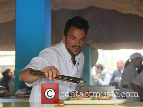 Peter Andre cooking demonstration in Leeds