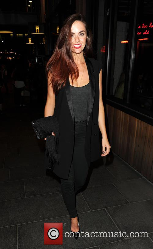 Jennifer Metcalfe and Twinnie-Lee Moore of 'Hollyoaks' enjoy...