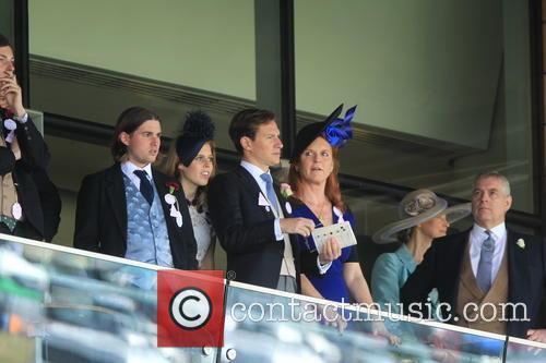 Dave Clark, Duchess Of York, Sarah Ferguson, Princess Beatrice, Princess Eugenie and Prince Andrew 2