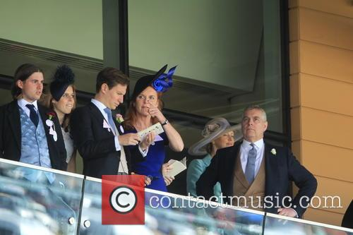 Dave Clark, Duchess Of York, Sarah Ferguson, Princess Beatrice, Princess Eugenie and Prince Andrew 3