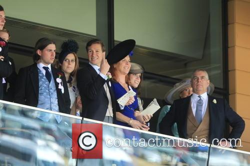 Dave Clark, Duchess Of York, Sarah Ferguson, Princess Beatrice, Princess Eugenie and Prince Andrew 5