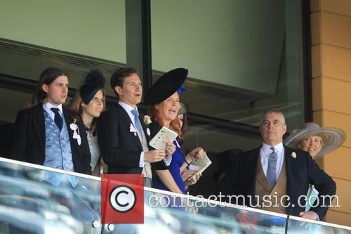 Dave Clark, Duchess Of York, Sarah Ferguson, Princess Beatrice, Princess Eugenie and Prince Andrew 6