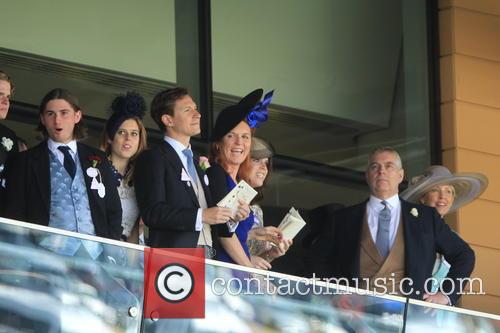 Dave Clark, Duchess Of York, Sarah Ferguson, Princess Beatrice, Princess Eugenie and Prince Andrew 7