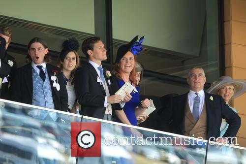 Prince Andrew, Duchess Of York, Sarah Ferguson, Princess Beatrice and Princess Eugenie 2