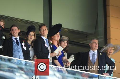 Prince Andrew, Duchess Of York, Sarah Ferguson, Princess Beatrice and Princess Eugenie 3