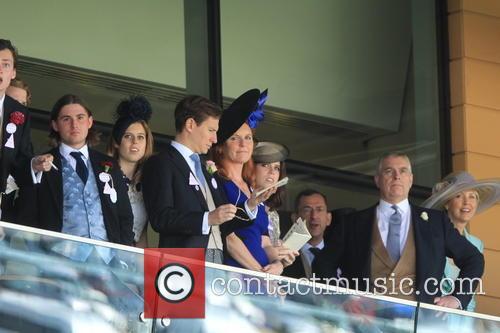 Prince Andrew, Duchess Of York, Sarah Ferguson, Princess Beatrice and Princess Eugenie 4