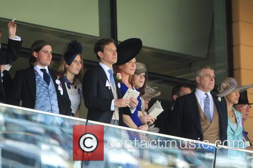 Prince Andrew, Duchess Of York, Sarah Ferguson, Princess Beatrice and Princess Eugenie 5